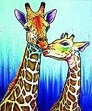 TTLDB Zwei Bunte Giraffen-Stichsäge, 1000-teiliges Stichsäge-Puzzle für Erwachsene und Kinder, für Kunstpädagogisches Spielzeug Home D