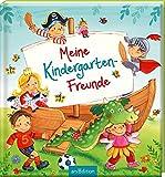Meine Kindergarten-Freunde: Freundebuch ab 3 Jahren, Ritter, Prinzessinnen, Fußball und Einhörner, für Jungen und Mädchen