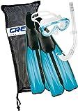 Cressi Unisex Tauchset Rondinella Bag, aquamarine, 39/40, CA189239