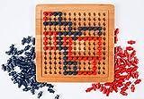 Muni Toys Obsidio Holz Brettspiel für 2 Spieler   Geschicklichkeitsspiel perfekt für Spieleabende mit der Familie oder unter Freunden   Das Denkspiel , bei dem Kinder das räumliche Denken Lernen