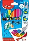 Maped 844612 Color Peps Magic Filzstifte, 10 Stxfcck