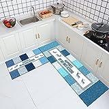 OPLJ Einfache geometrische Teppichmatte Wohnküche Wohnzimmer Dekoration rutschfeste waschbare Türmatte Teppichmatte A4 50x80cm