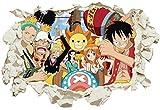 Unified Distribution One Piece - Luffy's Crew - Wandtattoo mit 3D Effekt, Aufkleber für Wände und Türen Größe: 92x61 cm, Stil: Durchb