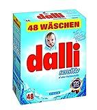 dalli® sensitiv Vollwaschmittel-Pulver I 48 Waschladungen I gute Hautverträglichkeit bei hervorragender Waschkraft   weiße Wäsche   3,12 kg