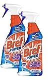 Bref Power gegen Kalk und Schmutz, Kalkreiniger, (2er Pack 2 x 750 ml), Sprühflasche, für hygienische Sauberkeit