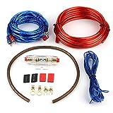 Kfz-Verstärkerkabel, Kfz-Audio-Subwoofer-Verstärker, Lautsprecher-Installationskabel, Kabelsatz mit Sicherung