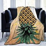 Plüsch Throw Velvet Blanket Down Ananas Warm Fleece Teppich Couch Tagesdecke für Frauen Soft Sleep Mat Pad Flanellbezug für den Sommer