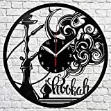 XYLLYT Shisha Vinyl Wanduhr LP Record Home Decor Handgemachte Kunst Persönlichkeit Geschenk Wanduhr 12