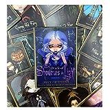 Tarot Karten 45Pcs Schatten Und Licht Oracle Karten, Mysterious Fate Divination Tarot Karten Deck, Brettspiel Mit Leitfaden Für Kinder Amüsante Spiele