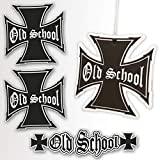 Oldschool Aufkleber Duftanhänger Tuning Set 4 teilig - Retro Duftbaum - Sticker w