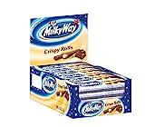 Milky Way Waffelröllchen | Crispy Rolls, Milchcreme | 24 Crispy Rolls in einer Box (24 x 22.5 g)