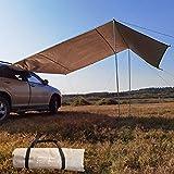 Cushion Wasserdichtes Dach-Auto-Sonnenschutz, Auto-Seitenmarkise, Auto-Überdachung-Wohnmobil-Anhänger-Zelt Für SUV-Minivan Schrägheck-Camping Im Freien Reisen