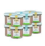 BIOPUR Bio Gemischtes Hundefutter 12x100g [Premium Nassfutter] - 100% Bio Qualität - Hundenassfutter » ausgewogene Zusammensetzung « Futter aus hochwertigen Rohstoffen für Hunde