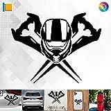 Decus Shop Halo Master Chief Helm und Schwert 2864 // Sticker Aufkleber vers. Größe Farbe