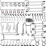 Pyrojewel Pegboard Haken Sortiment Home Storage Haken System-Klammern-Brett-Werkzeug Hanger Set Garage Küche Workshop Organiser-Dienstprogramm Hooks Leiterplatte