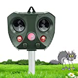 vonivi Ultraschall Katzenschreck Tiervertreiber Cat Dog Repellent Solar Wiederaufladbare Batterie Betrieben Fuchs Abwehr Katzenschreck Schreck für G