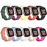 FunBand kompatibel mit Fitbit Versa 3 /Fitbit Sense Armband, Weiche Silikon Sport Ersatzarmband Ersatz Bandfür Fitbit Versa 3 /Fitbit Sense Smart Watch (10 Packung)