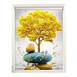 RZEMIN Sonnenschutz Rollo, UV-beständig Bedruckte Fensterläden, Home Kitchen Blackout Privacy Vorhang Anhebbar, (Color : A, Size : 115cmx180cm)