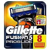 Gillette Fusion5 ProGlide Rasierklingen für Männer, mit FlexBall Technologie, Passt sich den Konturen an, 8 Stück, briefkastenfähige Verpackung (Verpackung kann variieren)