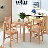 HUANGDANSP Fünfteiliges Esstisch-Set PinienholzMöbel Möbelgarnituren Essgruppen