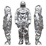 XIONGGG Isolationsanzug Anti-Wärmestrahlungsanzug Feuerbeständiger Anzug Entzündungshemmender Anzug Komplettset, Feuerwehruniform, 500/1000 Grad,1000 °C