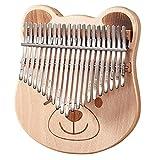 Kalimba 21-Key Thumb Piano Buche Finger Klavier Spielinstrument Set mit Tuning Hammer Music Lernen Handbuch Musik Erleuchtung Instrument Kinder Urlaub Geschenk Geburtstagsgeschenk