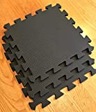 Warm Floor Workshop Bodenfliesen-Set, 3,6 x 3,0 m, Schwarz