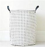 KKGASSAB Große Punkte Fünftiger Sterntuch Wäsche Wäsche Wäsche Kleidung Aufbewahrungskörbe Home Kleidung Barrel Taschen Kinder Spielzeug Lagerung Organizer (Color : D)