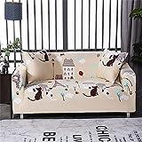 SUUZQK Dehnbare Sofabezug, Waschbare, Ganzjährige Universelle Elastische Sofabezug rutschfeste Sofabezug Wohnzimmer Armlehnen Sofa Schutzhülle 2 Seater (145-185 cm)