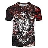Harry Potter Herren T-Shirt Kurzarm Sommer Mode 3Dt-Shirt Sommer Anime T-Shirt Kurzarm O-Neck Top-EIN_M.