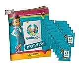 EURO 2020 Sticker Preview - Panini EM Sammelsticker - 1 Album + 15 Tüten + stickermarkt24de Gum