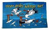 Fahne/Flagge Geiles Wetter Hier Möwe 60 x 90 cm