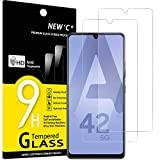 NEW'C 2 Stück, Schutzfolie Kompatibel mit Samsung Galaxy A42 5G panzerglasfolie, Frei von Kratzern, 9H Härte, HD Displayschutzfolie, 0.33mm Ultra-klar, Ultrabeständig