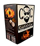 Club Coco Cube | 1KG | Natürliche Kohle aus 100% Kokosnuss | Für Shisha und BBQ | Premium Qualität