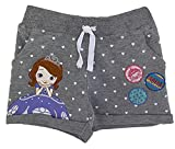Disney Sofia The First Baby Mädchen Shorts, Graue Shorts mit Charakter-Print aus Baumwolle (5/6 Jahre)