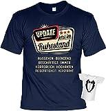 Rentner-Sprüche Tshirt lustiges Geschenk Ruhestand : Update jetzt im Ruhestand - Rentner-Shirt Motiv/Spruch Rente + Mini Flaschenshirt Gr: 3XL