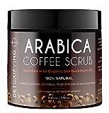Körperpeeling Kaffee Body Scrub Peeling Körper Gesicht Anti-Cellulite Peeling Salz Dead Sea Salt Meersalz Gegen Akne Ätherische Öle Ekzem Krampfadern Steigert die Durchblutung Frauen Männer 250