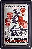 Blechschild 20x30 cm Zündapp Motorrad Bike historisch Plakat Werbung Metall Schild