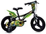 Dinosaurier Kinderfahrrad Dino- Trex Jungenfahrrad   TÜV geprüft   Original   Kinderrad mit Stützrädern - Das Fahrrad als Geschenk für Jungen (16, Zoll)