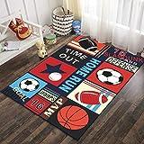SunYe 18D Gedruckte Teppich Kinderzimmer Kriechen Cartoon Fußmatten Schlafzimmer Couchtisch Voller Großer Teppich rutschfest Verschleiß