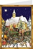 Richard Sellmer Verlag Adventskalender Der Weihnachtszug Postkarte mit Umschlag