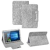 NAUC Filz Hülle für XIDO Z120 Z110 X111 X110 Z90 Tablet umweltfreundlichem Filz praktischer Standfunktion Schutztasche Stand Tasche Cover Case, Farben:Hell Grau