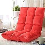 HKX Zusammenklappbarer Bodenspielstuhl, Matten Bodenstuhl Mit Verstellbarer Rückenstütze Meditationsstuhl -rot