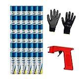 Iloda® Schutzhandschuhe + Sprüh-Pistolengriff (rot oder schwarz) + 36x 300ml cartechnic Silikonspray Silicone Spray