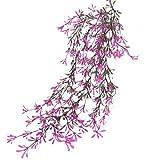 Künstliche Pflanzenreben Elfenbein Dekorative Kunststoffwände Innen und AußenHängekörbe Hochzeitsgirlande Dekoration Blumenrebe