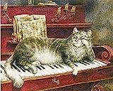 Ölgemälde nach Zahlen Klavier Handgemalte Malerei Zeichnung auf Leinwand Geschenk DIY Bilder nach Zahlen Landschafts-Kits Wohnkultur A14 40x50