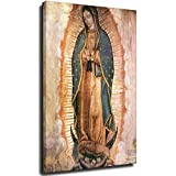 Kunstdruck Guadalupe Lady Ölgemälde auf Leinwand, Wandkunst, Poster, Heimdeko, Bilder für Wohnzimmer, Rahmen, 20 x 30 cm