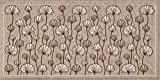 HomeLife Küchen-Teppich, schmutzabweisend und rutschfest, 55 x 280 cm, hergestellt in Italien, moderner Läufer mit Blumenmuster, waschbar, langer Teppich, bunt [55 x 280, Taupe]