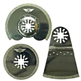 3 x TopsTools UNKA3DB Diamant Mörtelklingen Kompatibel mit Bosch Fein (nicht StarLock) Makita Milwaukee Einhell Parkside Ryobi Worx Workzone Multifunktionswerkzeug-Zubehör