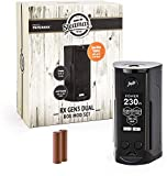 Wismec/Steamax RX Gen3 Dual Akkuträger 230 Watt + 2 x 3000 mAh Akku Mod-Box-Set E-Zigarette E-Shisha (dieses Produkt enthält kein Nikotin) (schwarz)